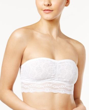 B.tempt'd Bandeau - Lace Kiss 916182 - White FINAL SALE