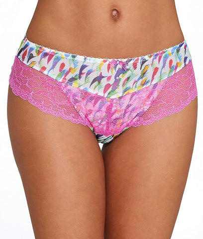 Panache - Jasmine Brief- White Abstract 6955