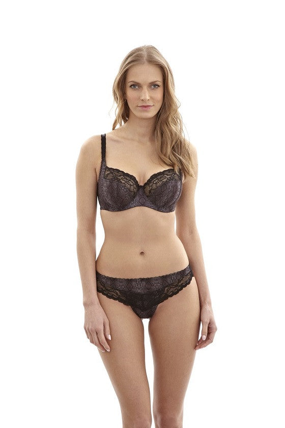 Panache panties-jasmine thong-black animal 6957