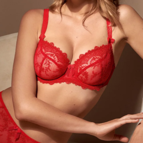 Empreinte Bras - Louise Low-Necked 08184 - Rouge Intense