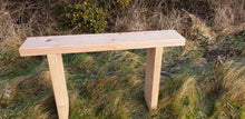 Load image into Gallery viewer, Solid wood bench made from Larch by Signs of Scotland, hand made solid wood bench, garden bench