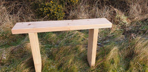 Solid wood bench made from Larch by Signs of Scotland, hand made solid wood bench, garden bench