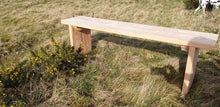 Load image into Gallery viewer, Solid wood garden bench made by Signs of Scotland, hand made solid wood bench, garden bench