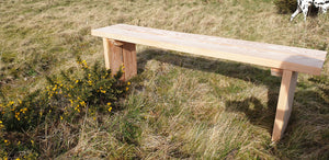 Solid wood garden bench made by Signs of Scotland, hand made solid wood bench, garden bench