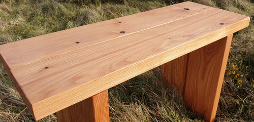 Larch garden bench, solid wood garden bench made in Scotland