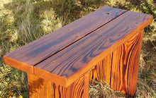Load image into Gallery viewer, Garden bench, hand made garden bench, UK made garden bench, solid wood bench, solid wood garden furniture