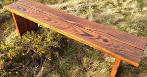 Garden bench, hand made garden bench, UK made garden bench, solid wood bench, solid wood garden furniture