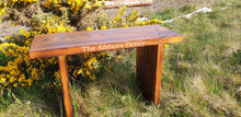 Load image into Gallery viewer, Carved garden bench - personalized inscription. Solid wood, with 5 Year warranty