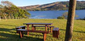 Premium dark finish picnic table and benches set, made in the UK. BEST PICNIC SET FOR THE PRICE! 5 Year warranty!