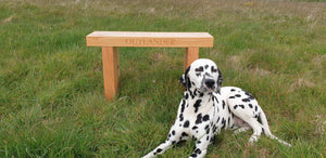 Personalized - carved wooden garden bench 70mm thick. Made in UK. 5 year WARRANTY!