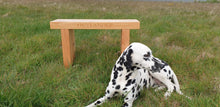 Load image into Gallery viewer, 70mm thick solid wood Outlander bench made by Signs of Scotland