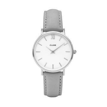 MINUIT SILVER WHITE/GREY WATCH