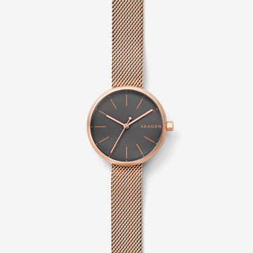 SKAGEN SIGNATUR ROSE GOLD MESH WATCH