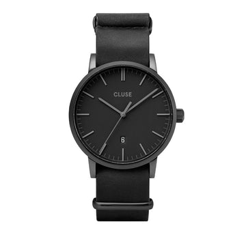 ARAVIS BLACK//BLACK LEATHER NATO