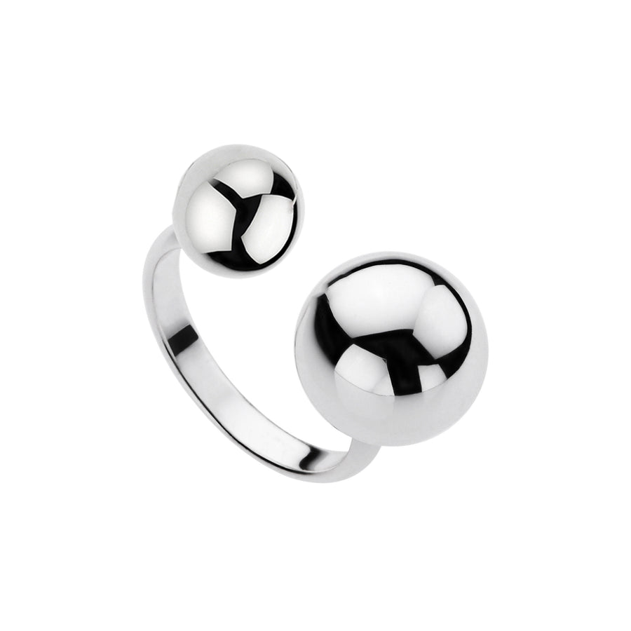 NAJO SILVERSHOP EXCLUSIVE DOUBLE SPHERES RING