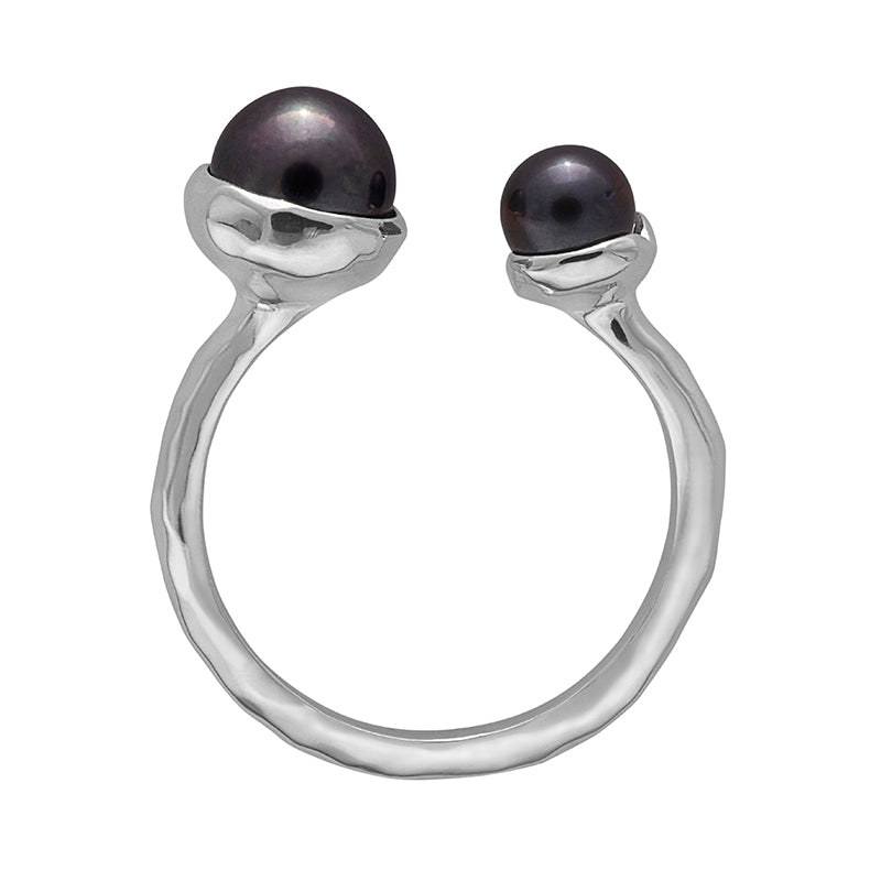 RIVIERA DOUBLE PEARL RING