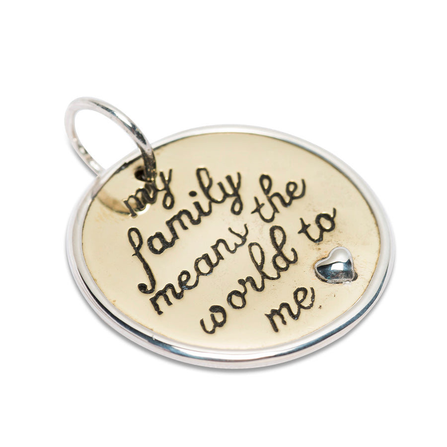 FAMILY MEANS THE WORLD CHARM PENDANT