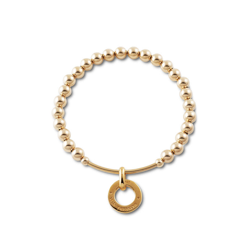 BAR AND DISC PENDANT BRACELET