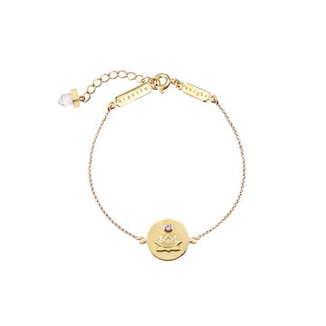 ALLURE | BLOOMING LOTUS COIN BRACELET YG