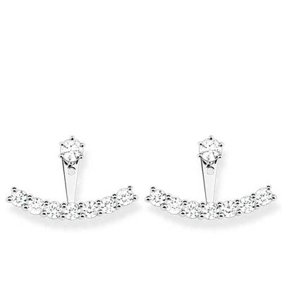 ZIRCONIA JACKET EARRINGS