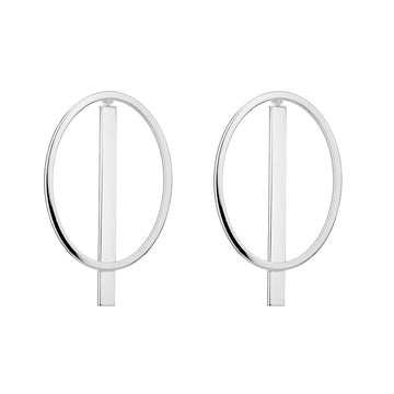 OVAL JACKET EARRINGS