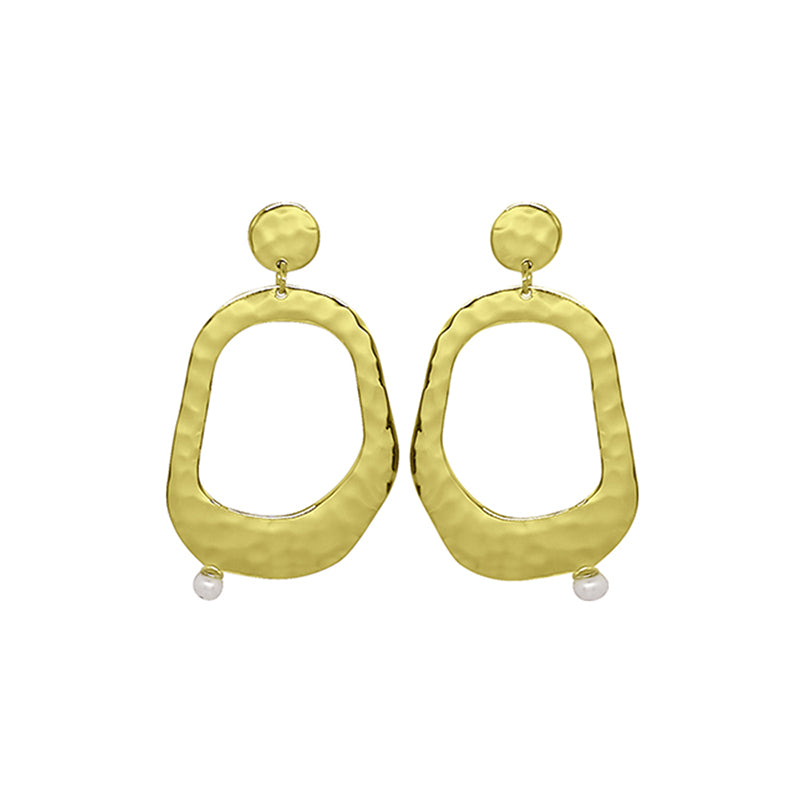 RIVIERA LARGE PEARL EARRINGS
