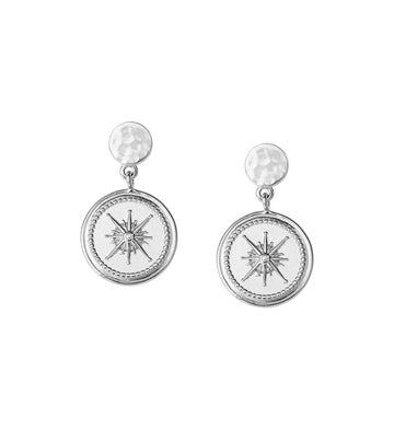 VOYAGE | TRUE NORTH COIN EARRINGS