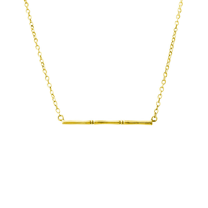 BAMBOO HORIZONTAL NECKLACE
