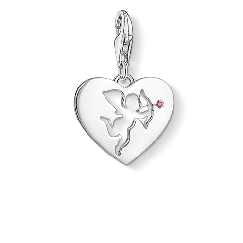 CHARM CLUB HEART WITH CUPID