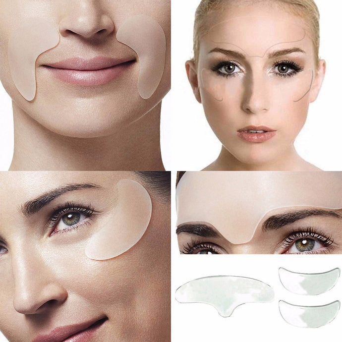 5Pcs Anti Wrinkle Eye Chin Forehead Skin Care Pads