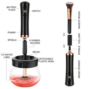 Electric Makeup Brush Cleaner Tool Machine