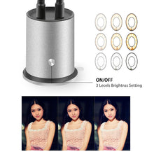 Load image into Gallery viewer, Selfie Ring Light with Cell Phone Holder Stand Lazy Bracket