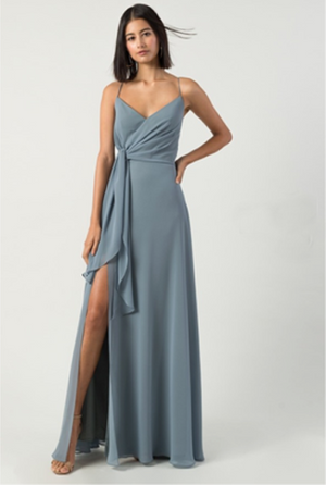 KARYN split maxi dress