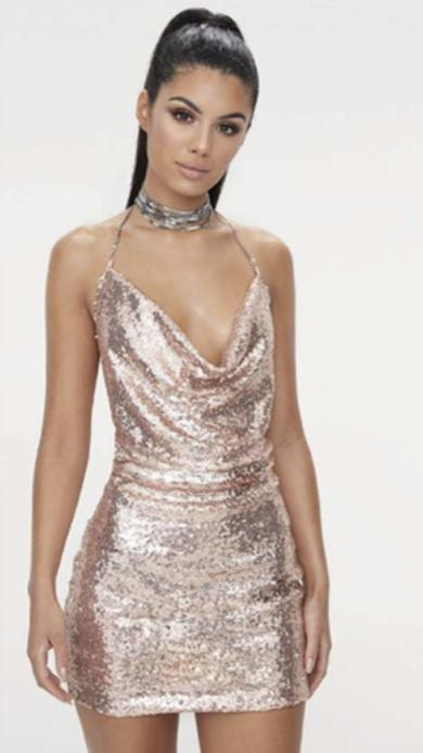 Kamila gold sequin dress