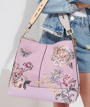 Lovely Pink embroidered hand bag