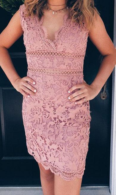 KARINA sleeveless lace dress