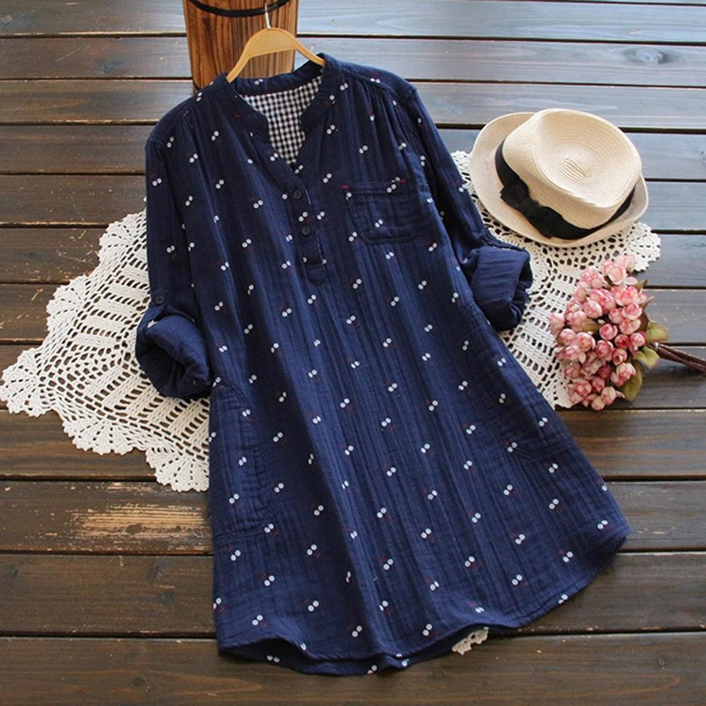 Vintage Style Blouse With Dots