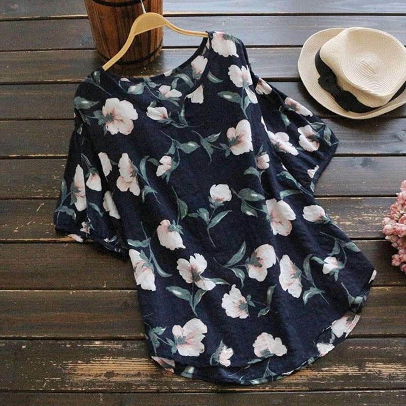 Casual Style Blouse With Floral Design