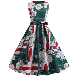 Elegant Style Party Dress With Floral Design