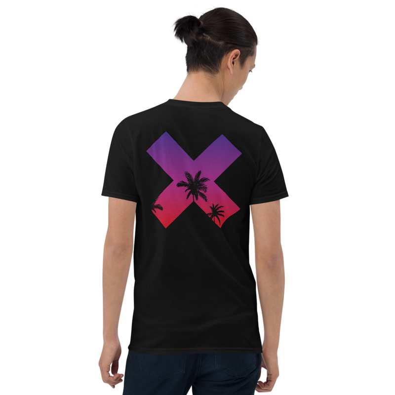 Kosaten t-shirt - Black - Model Back - cyberpunk t shirts - Neomachi