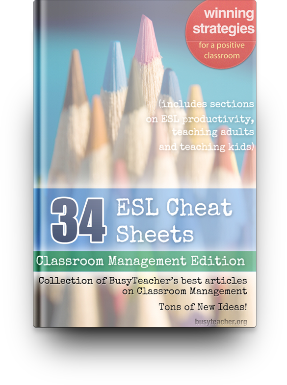 ESL Cheat Sheets: Classroom Management Edition