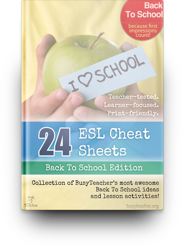 24 ESL Cheat Sheets (Back To School Edition)