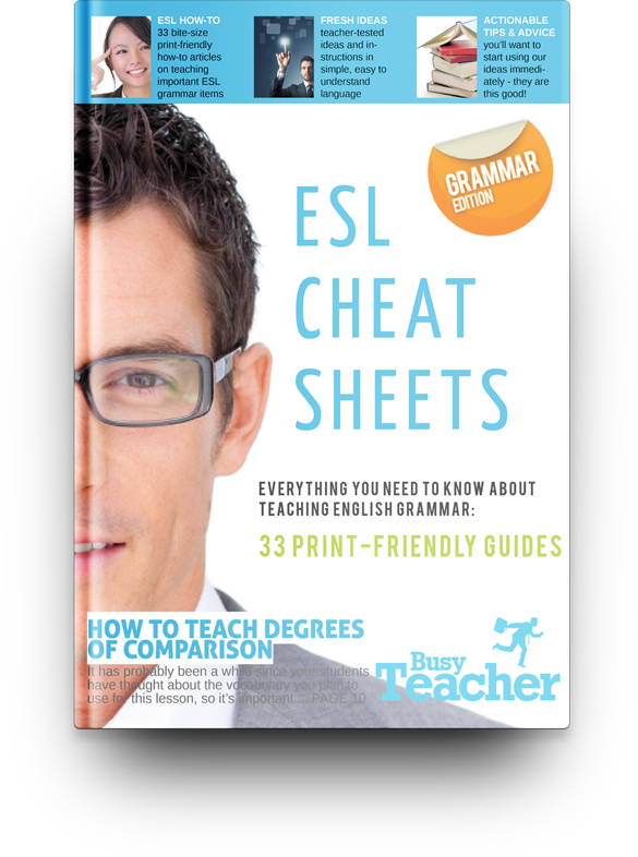 33 ESL Cheat Sheets: Grammar Edition