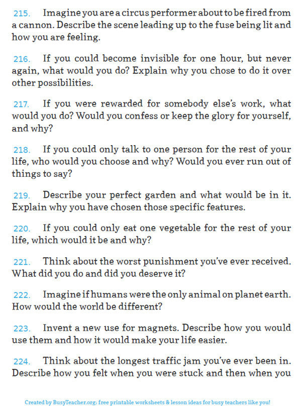 E-book - 300 Creative Writing Prompts