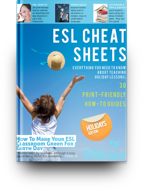 30 ESL Cheat Sheets: Holiday Edition