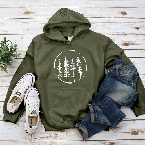 Above The Treeline Hoodie - Pine and Oak