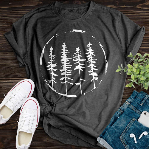 Above The Treeline Tee - Pine and Oak