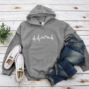 Earth's Heartbeat Hoodie - Pine and Oak
