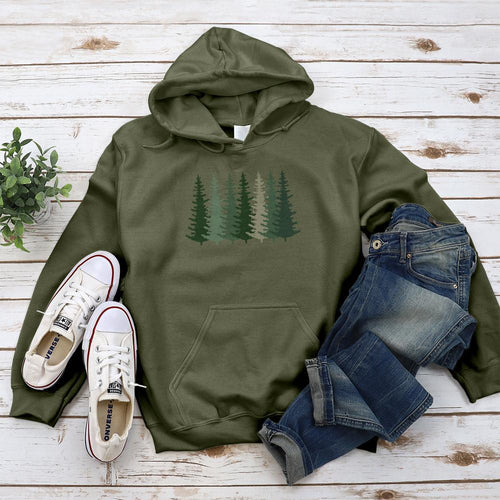 Evergreen Forest Hoodie - Pine and Oak