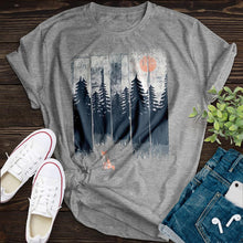 Load image into Gallery viewer, Forest Fox Tee - Pine and Oak